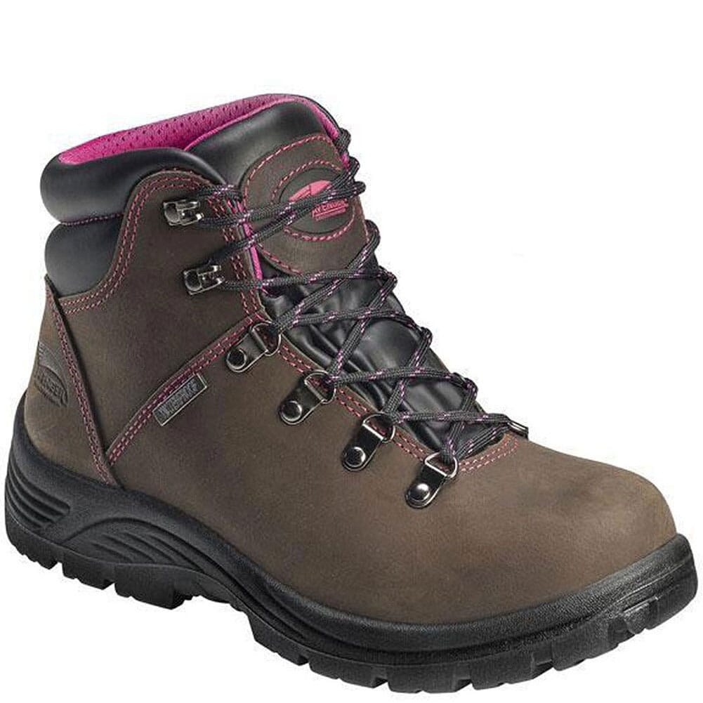 Image for Avenger Women's Waterproof EH Safety Boots - Brown from bootbay