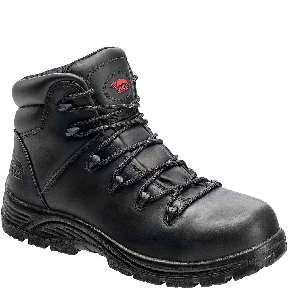 Image for Avenger Men's WP Puncture Resistant Safety Boots - Black from bootbay