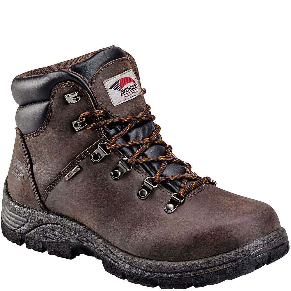 Image for Avenger Men's EH Waterproof Safety Boots - Brown from bootbay