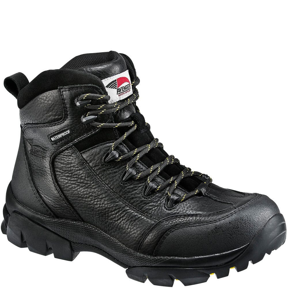 Image for Avenger Men's EH WP Safety Boots - Black from bootbay