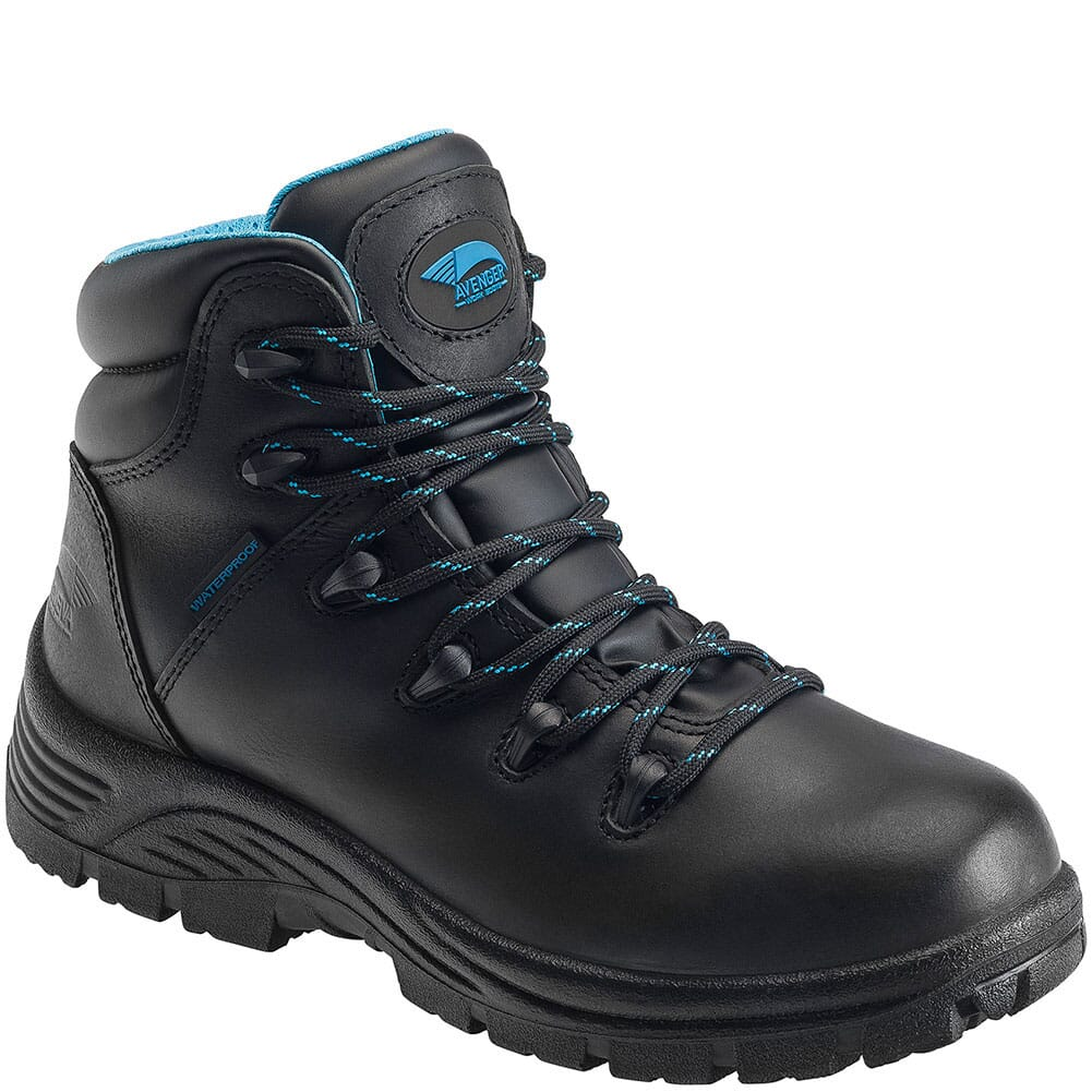 Image for Avenger Women's EH Leather Work Boots - Black from bootbay