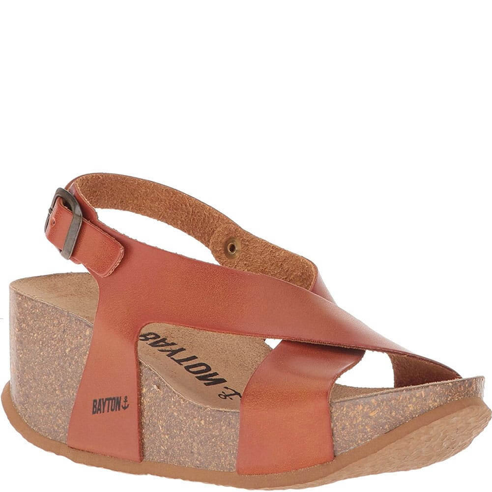 Image for Bayton Women's Rea Wedge Sandals - Camel from elliottsboots