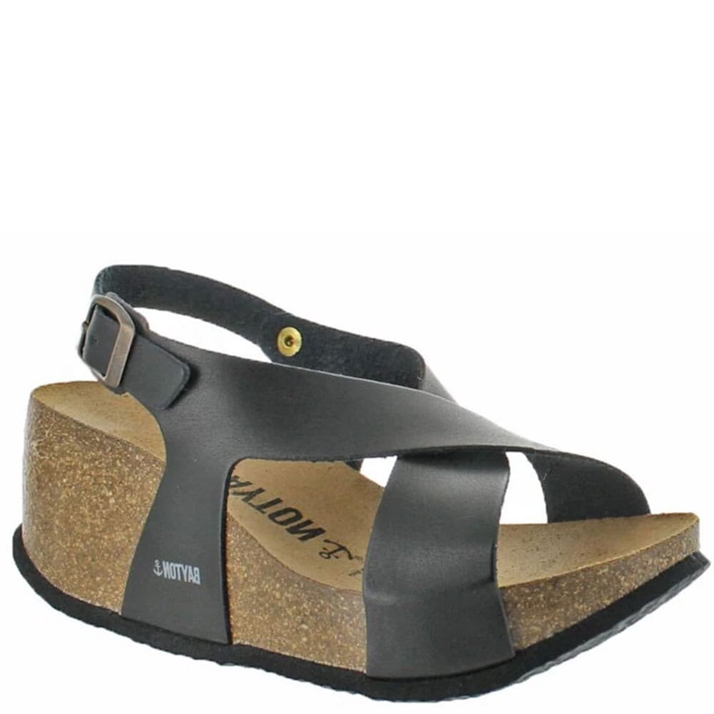Image for Bayton Women's Rea Wedge Sandals - Black from elliottsboots
