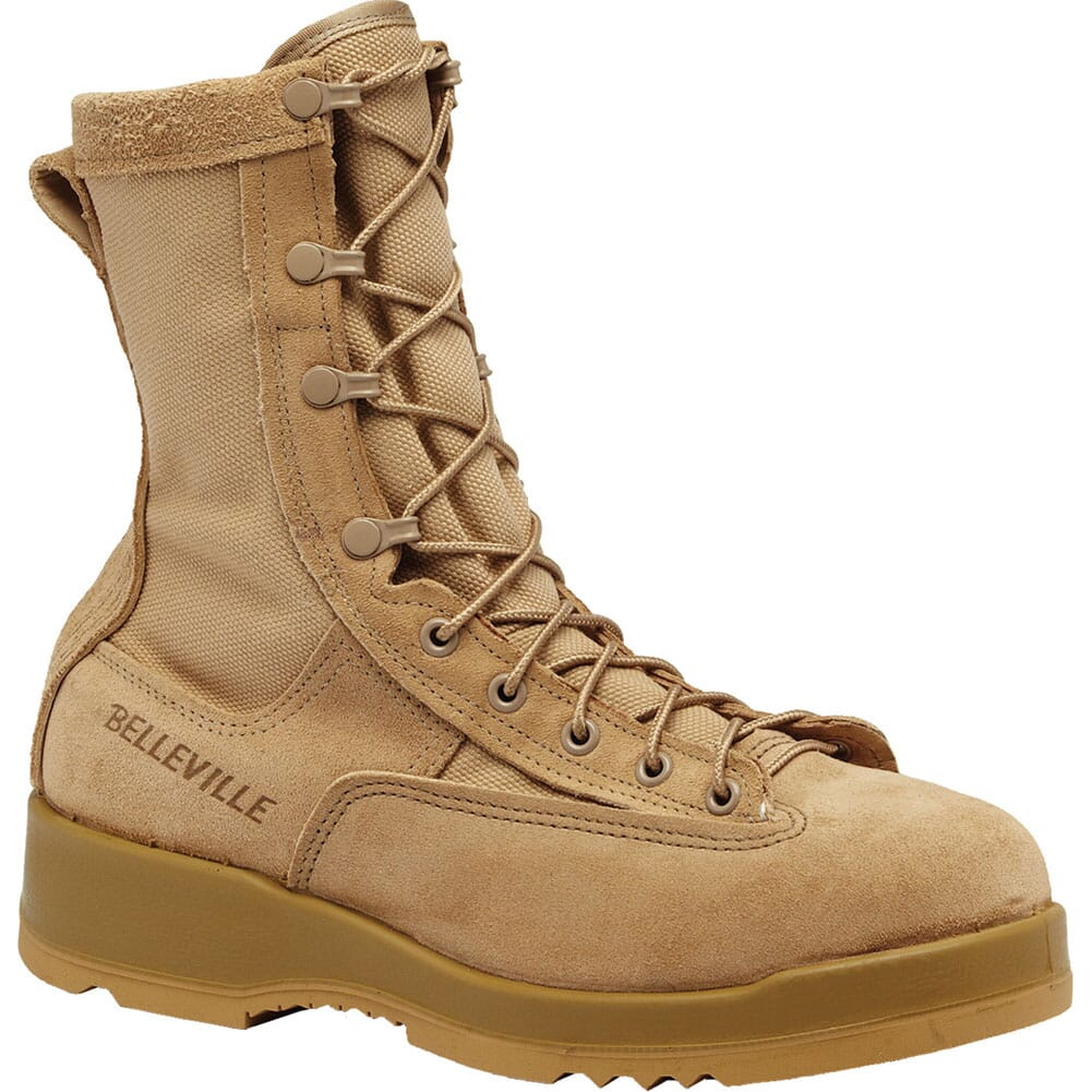 Image for Belleville Men's Hot Weather Flight Safety Boots - Tan from bootbay