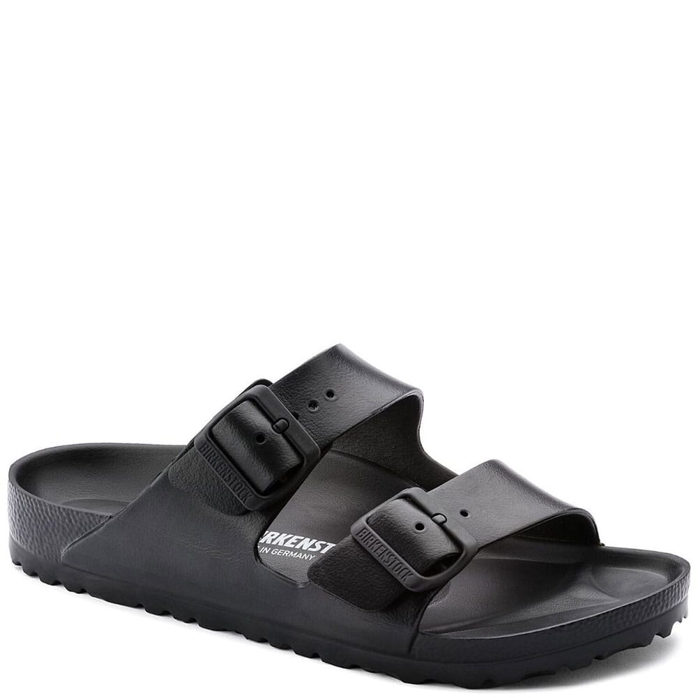 Image for Birkenstock Unisex Arizona Essentials Sandals - Black from bootbay