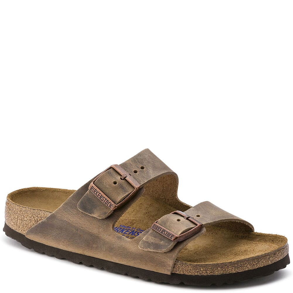Image for Birkenstock Unisex Arizona Soft Sandals - Tobacco Brown from bootbay