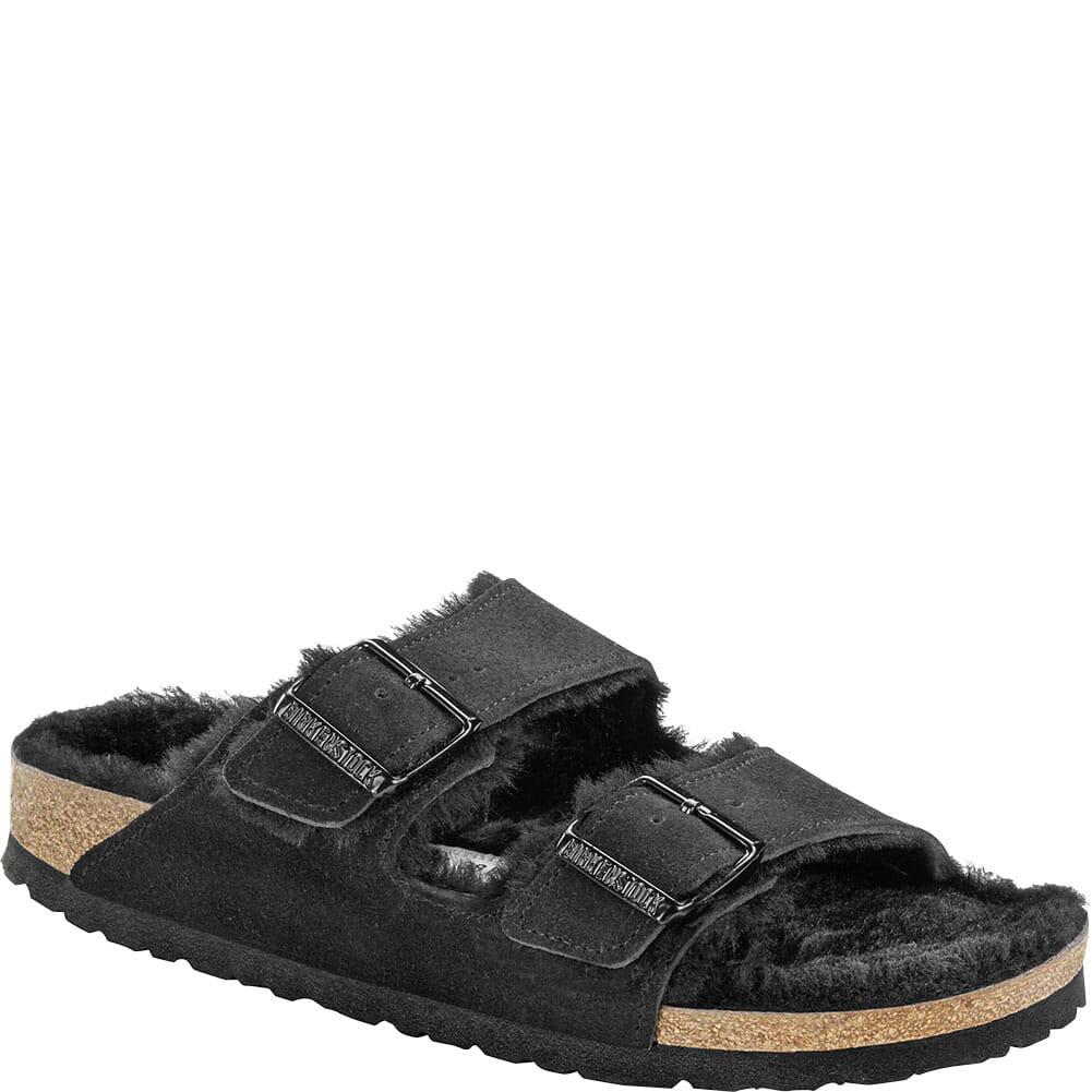 Image for Birkenstock Women's Arizona Shearling Sandals - Black from bootbay