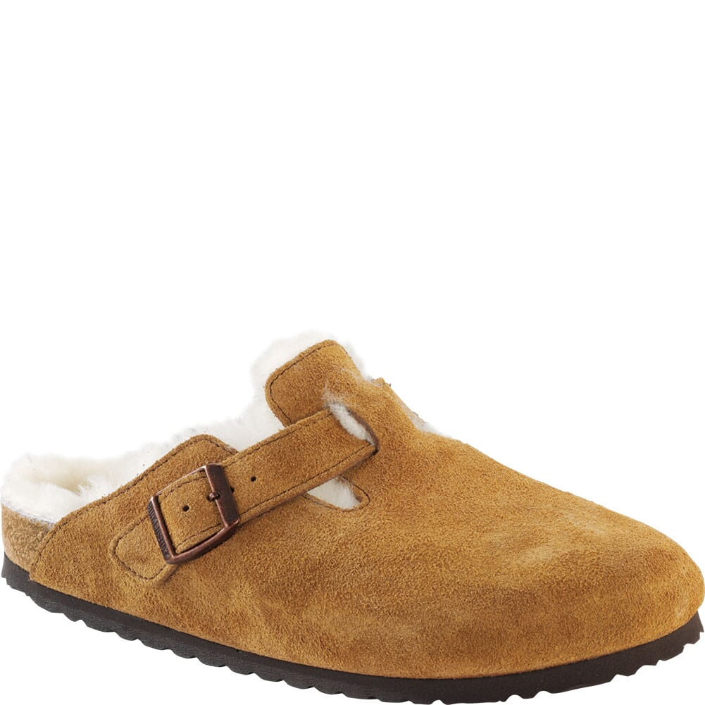 Image for Birkenstock Women's Boston Shearling Casual Slip On - Mink/Natural from bootbay