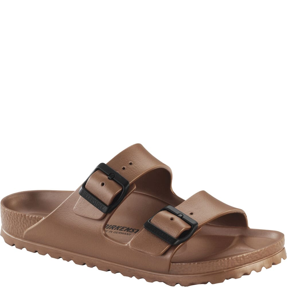 Image for Birkenstock Women's Arizona EVA Sandals - Metallic Copper from bootbay