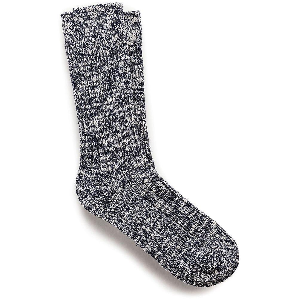 Image for Birkenstock Women's Cotton Slub Sock - Blue/White from bootbay