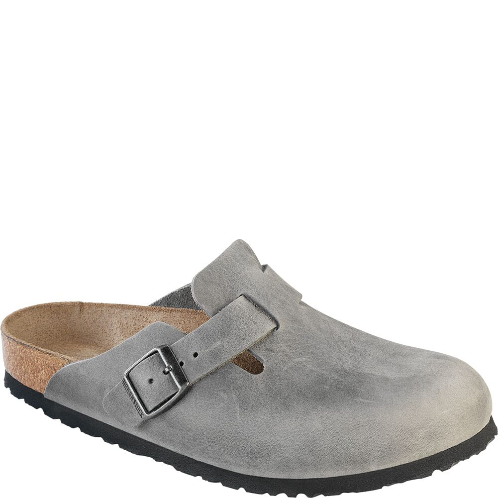 Image for Birkenstock Women's Boston SFB Casual Slide Ons - Iron from bootbay