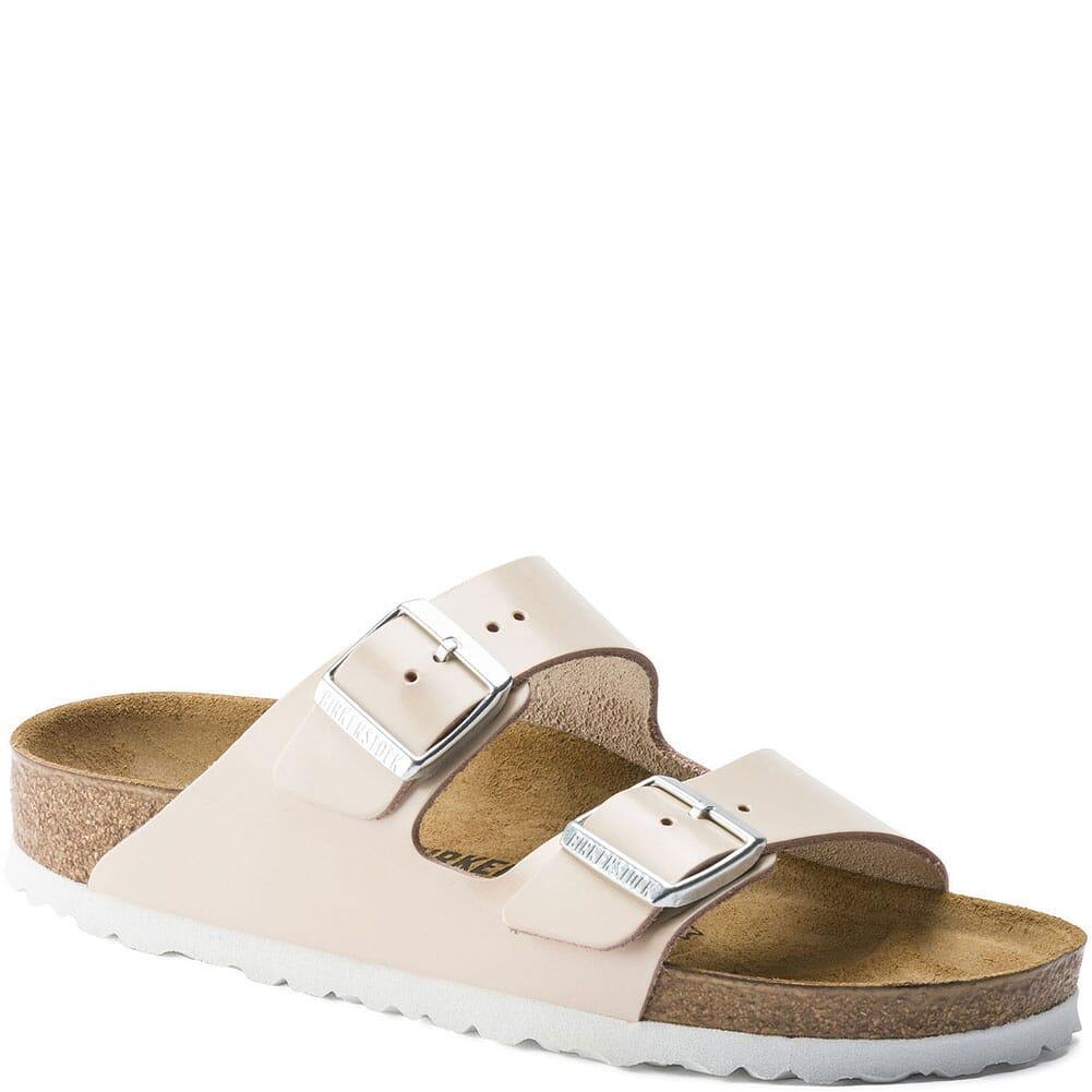 Image for Birkenstock Women's Arizona Sandals - Natural Powder from bootbay