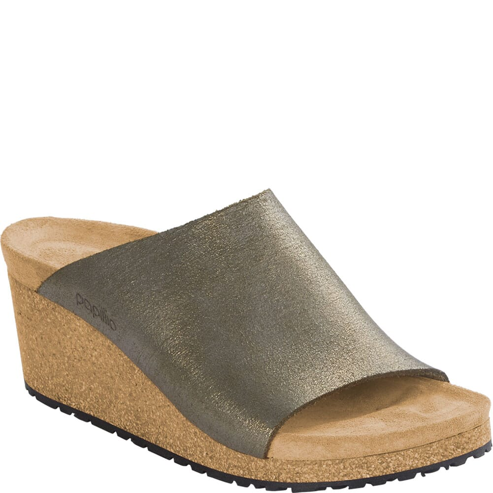 Image for Birkenstock Women's Namica Suede Sandals - Washed Metallic Stone Gold from elliottsboots