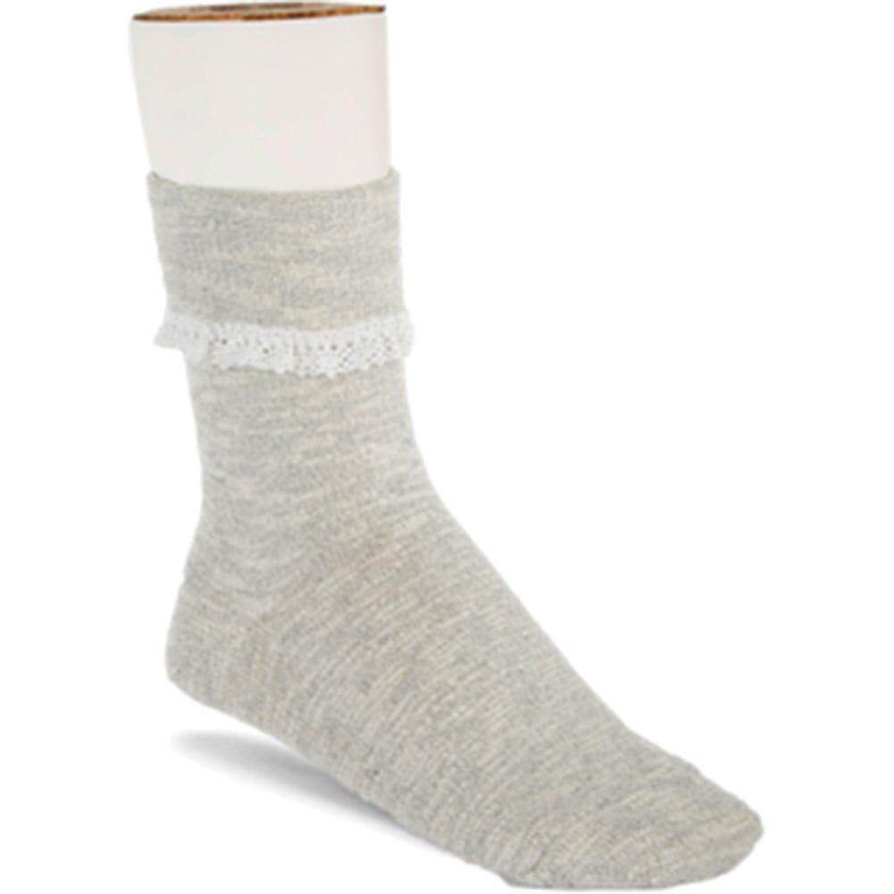 Image for Birkenstock Women's Slub Lace Crew Socks - Light Gray from bootbay
