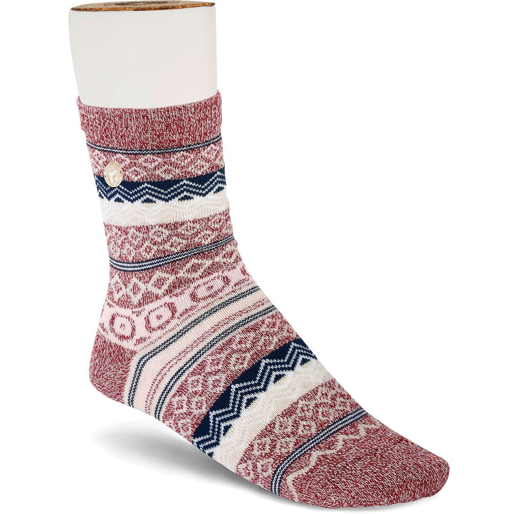 Image for Birkenstock Women's Cotton Jacquard Socks - Tawny Port from bootbay