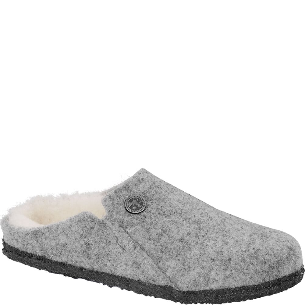 Image for Birkenstock Women's Zermatt Wool Felt Casual Shoes - Light Grey from bootbay