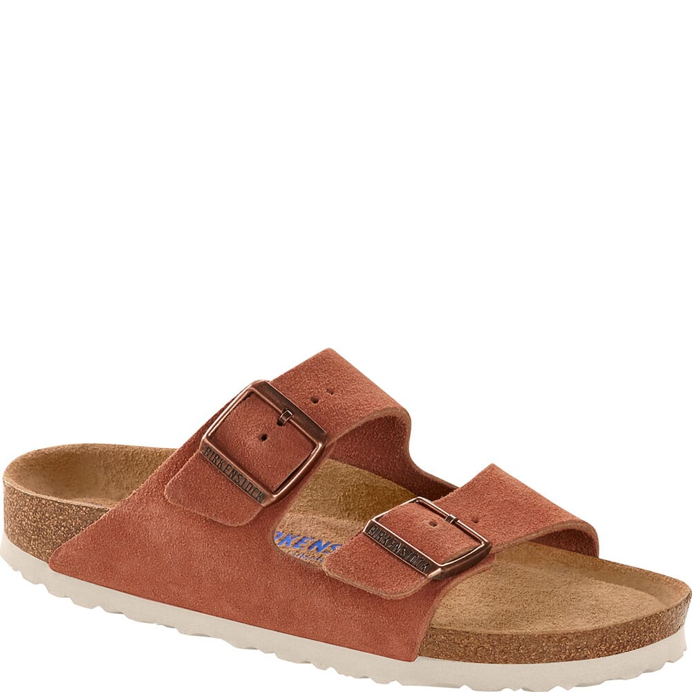 Image for Birkenstock Women's Arizona Soft Footbed Sandals - Earth Red from bootbay