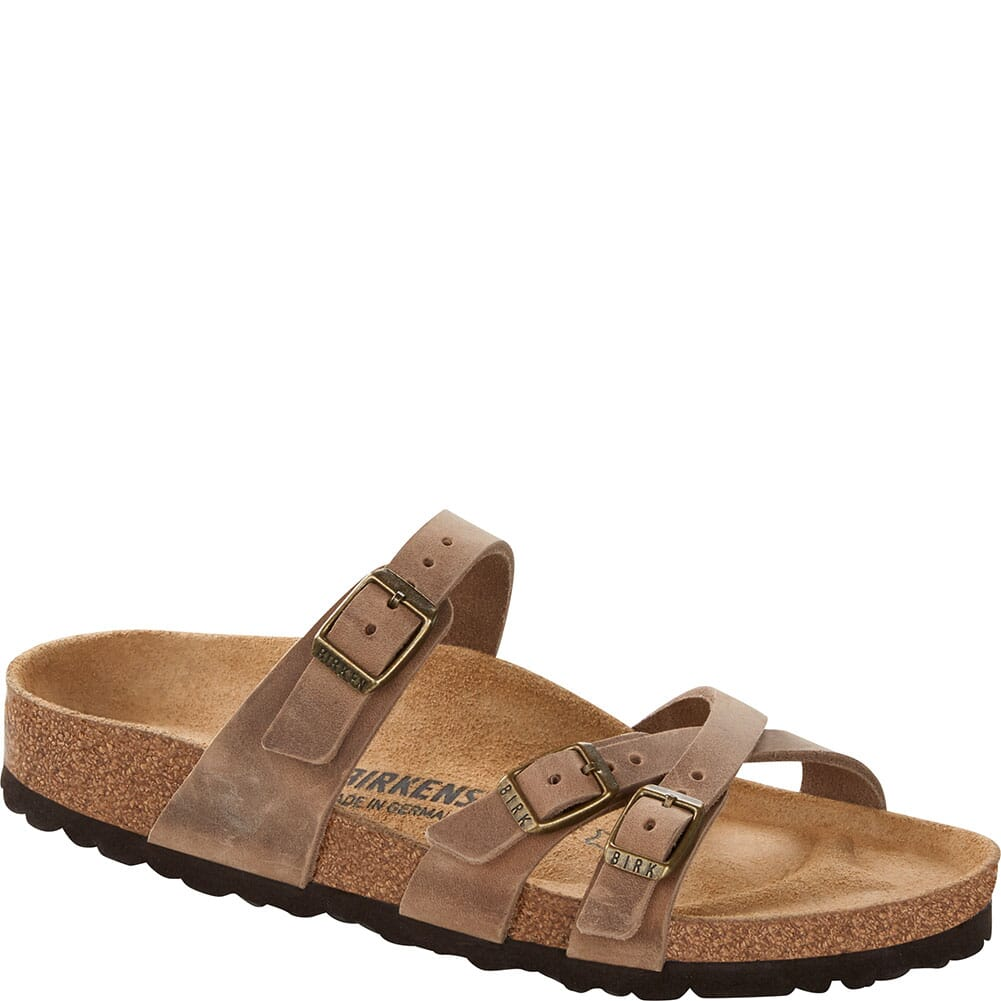 Image for Birkenstock Women's Franca Leather Sandals - Tobacco from bootbay