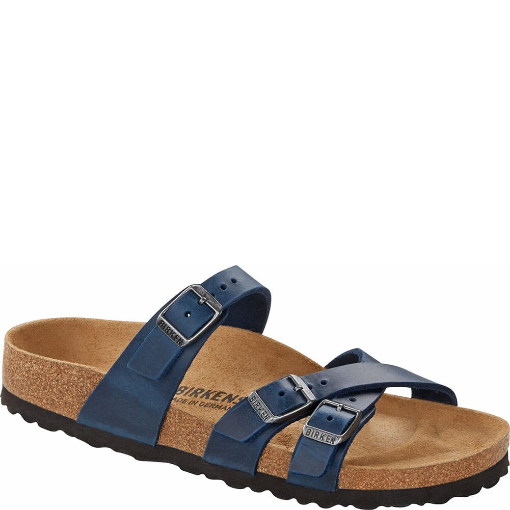 Image for Birkenstock Women's Franca Leather Sandals - Blue from bootbay