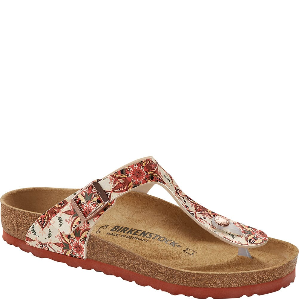 Image for Birkenstock Women's Gizeh Birko-Flor Thong Sandals - Boho Flowers Earth from elliottsboots