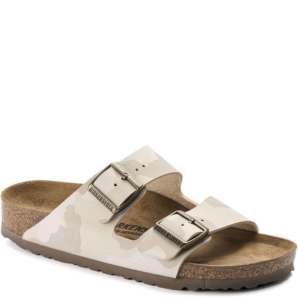 Image for Birkenstock Women's Arizona Sandals - Desert Soil Camo Sand from elliottsboots