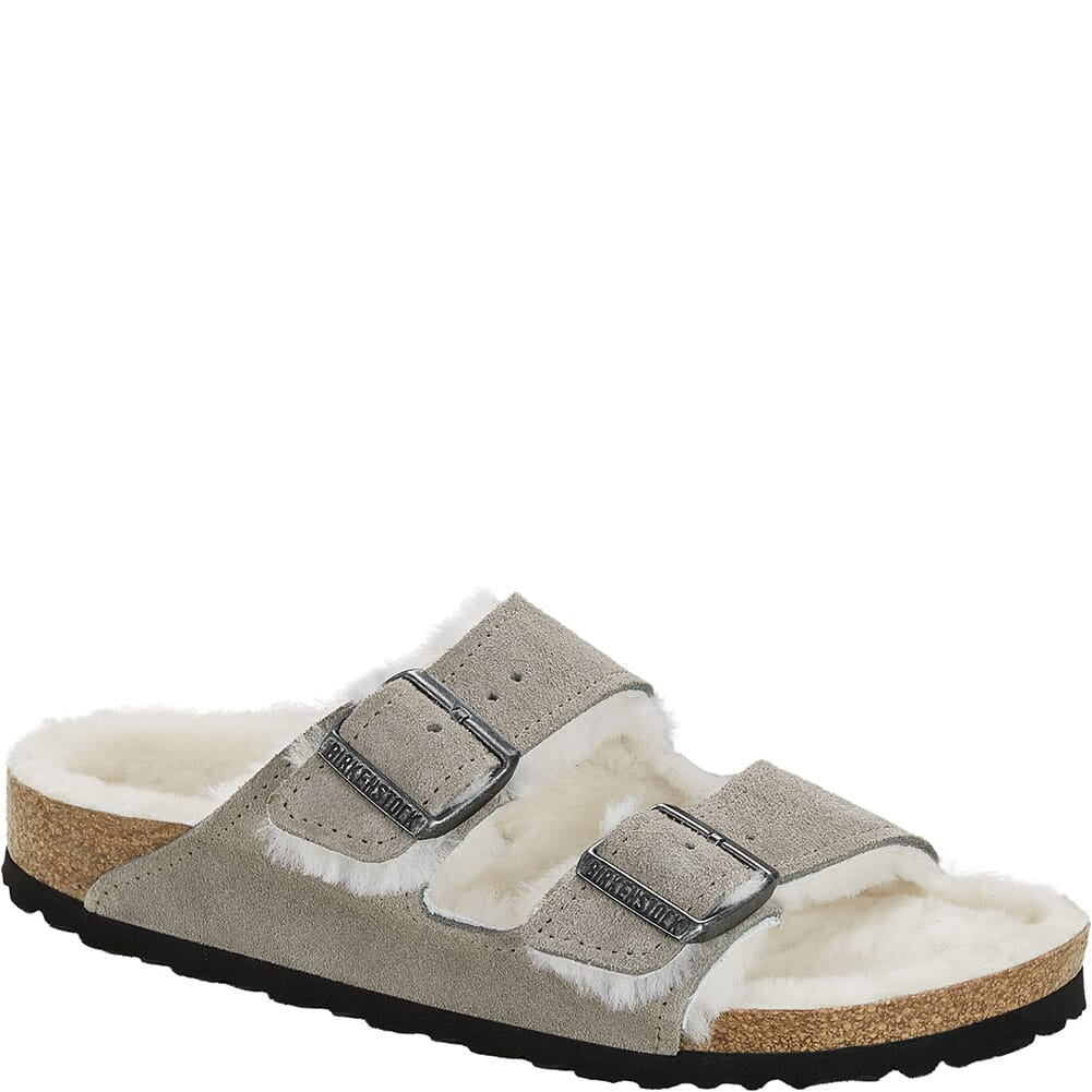 Image for Birkenstock Women's Arizona Shearling Sandals - Stone Coin from bootbay