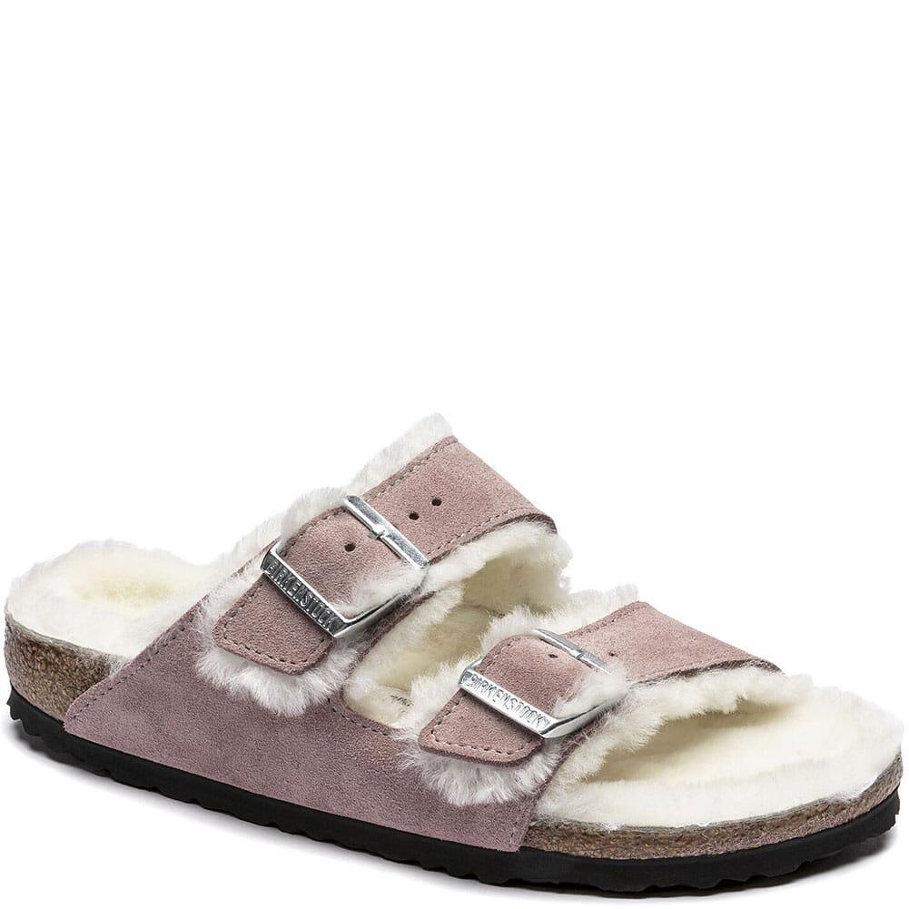 Image for Birkenstock Women's Arizona Shearling Sandals - Lavender Blush from bootbay
