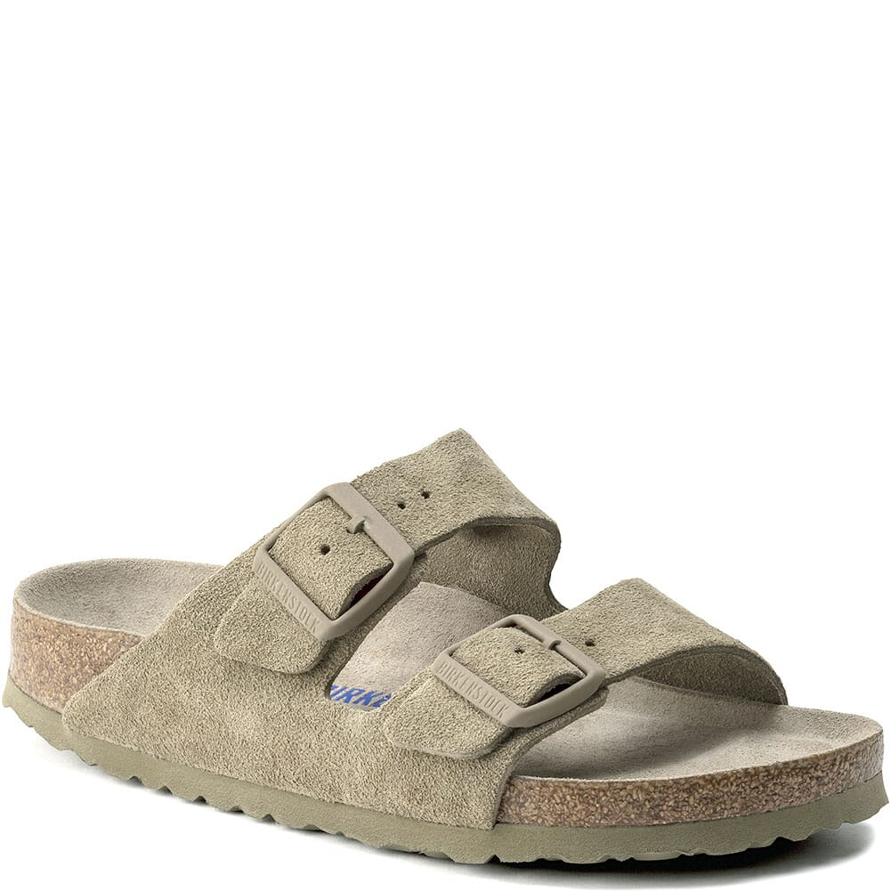 Image for Birkenstock Women's Arizona SFB Sandals - Faded Khaki from elliottsboots