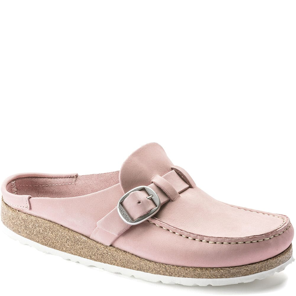 Image for Birkenstock Women's Buckley Shearling Slip Ons - Embossed Soft Pink from bootbay