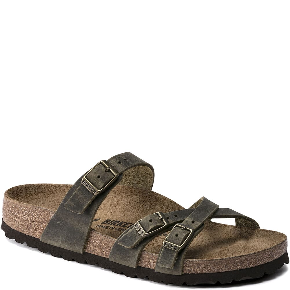 Image for Birkenstock Women's Franca Leather Sandals - Jade from bootbay