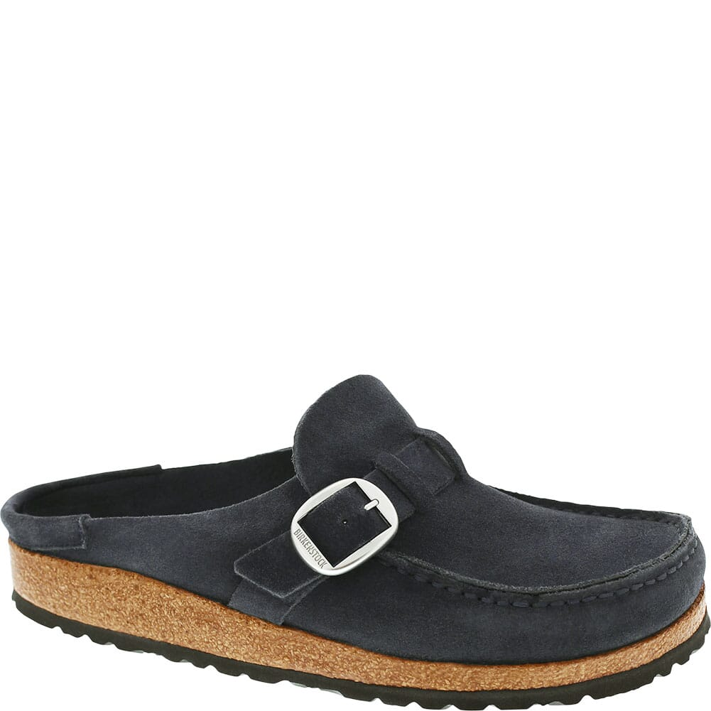 Image for Birkenstock Women's Buckley Suede Leather Slip Ons - Night from bootbay