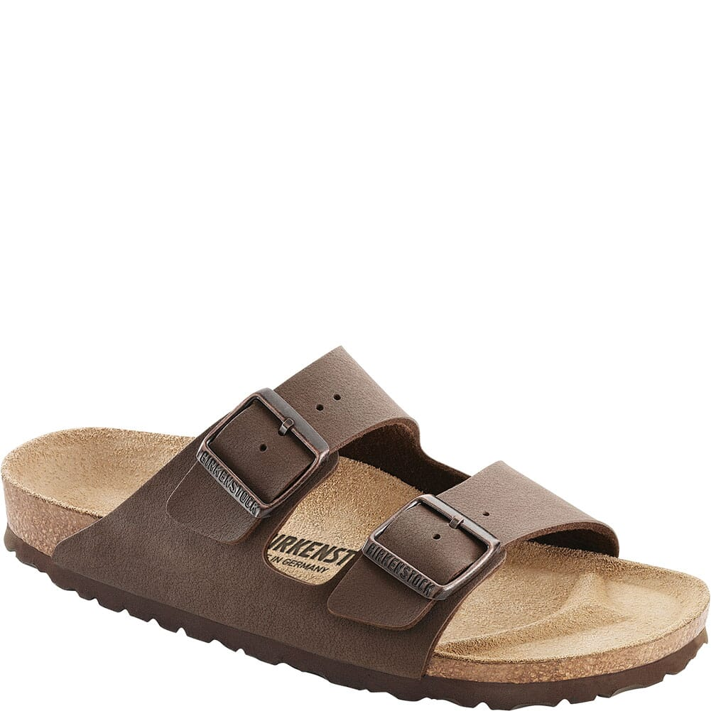 Image for Birkenstock Unisex Arizona Birkibuc Sandals - Mocha from elliottsboots