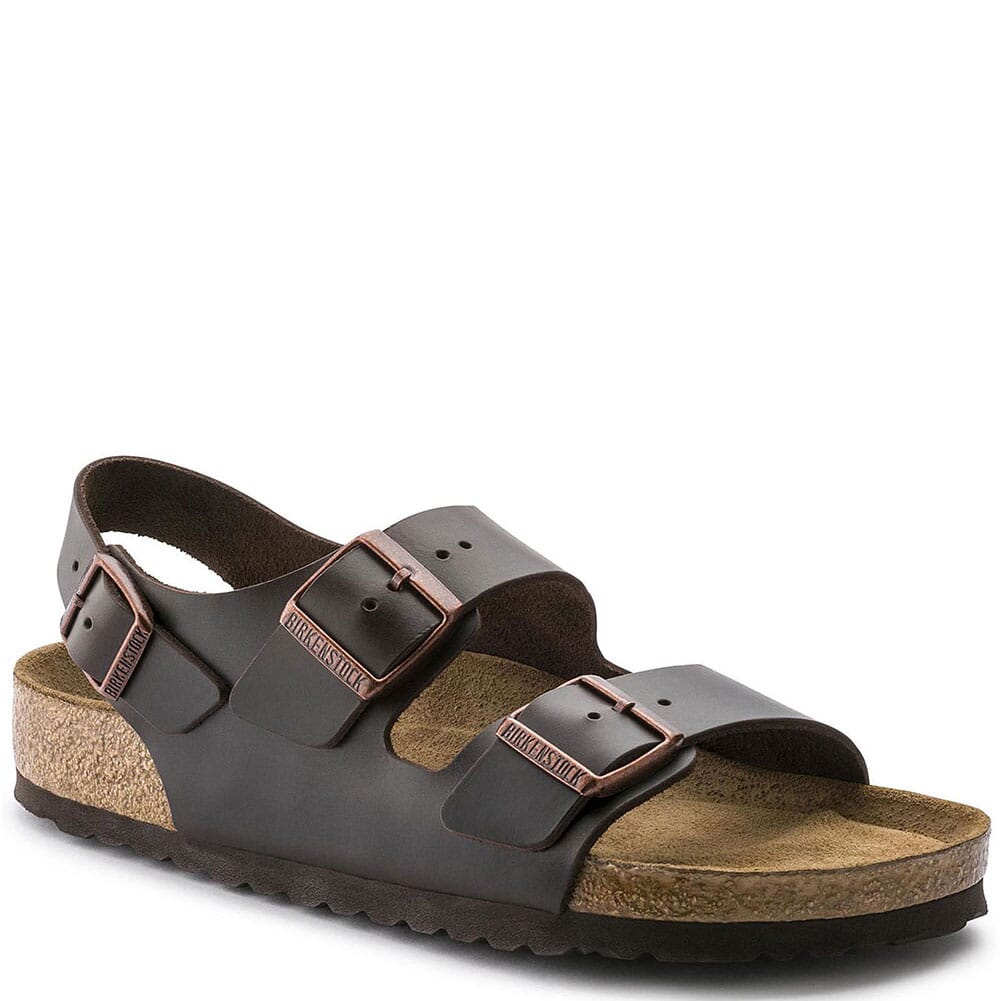 Image for Birkenstock Unisex Milano Soft Footbed Sandals - Amalfi Brown from bootbay