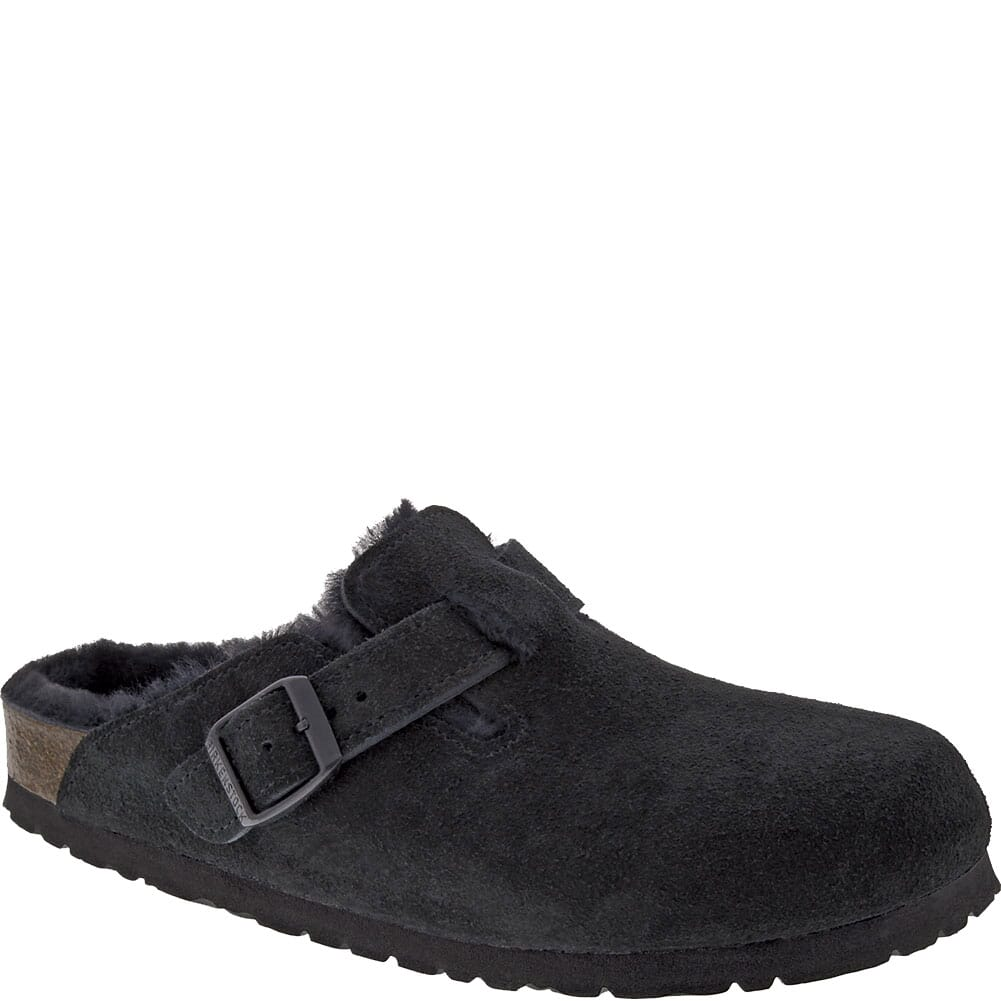 Image for Birkenstock Women's Boston Shearling Casual Clogs - Black/Black from bootbay