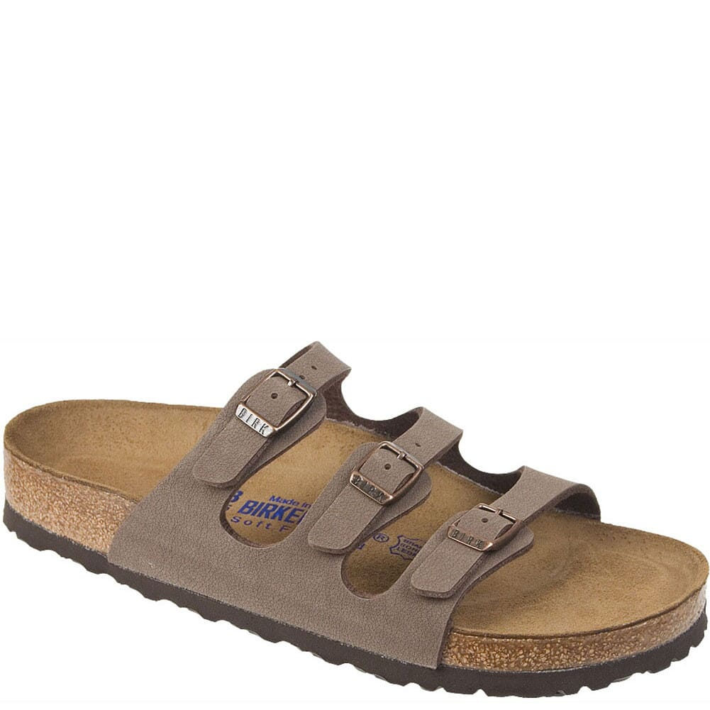 Image for Birkenstock Women's Florida Soft Footbed Sandals - Mocha from bootbay