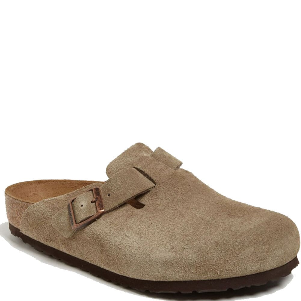 Image for Birkenstock Kid's Boston Casual Slides - Taupe from bootbay