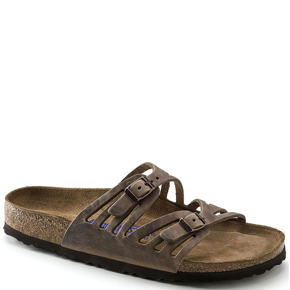 Image for Birkenstock Women's Granada Soft Footbed Sandals - Tobacco Oiled from bootbay