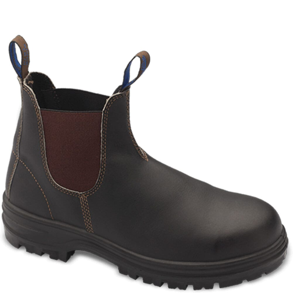 Image for Blundstone Unisex Steel Toe Safety Boots - Stout Brown from elliottsboots