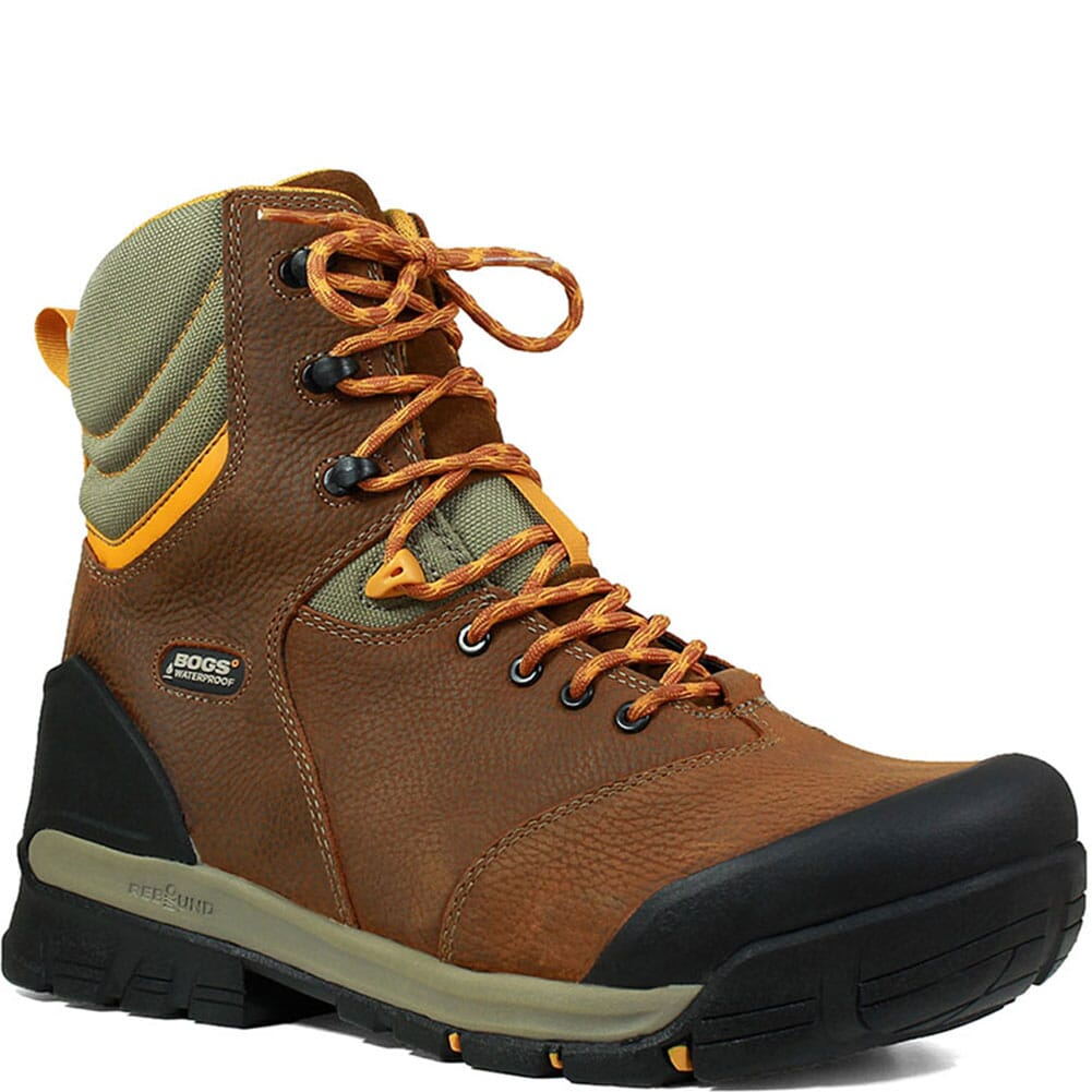 Image for Bogs Men's Bedrock WP Safety Boots - Brown Multi from bootbay