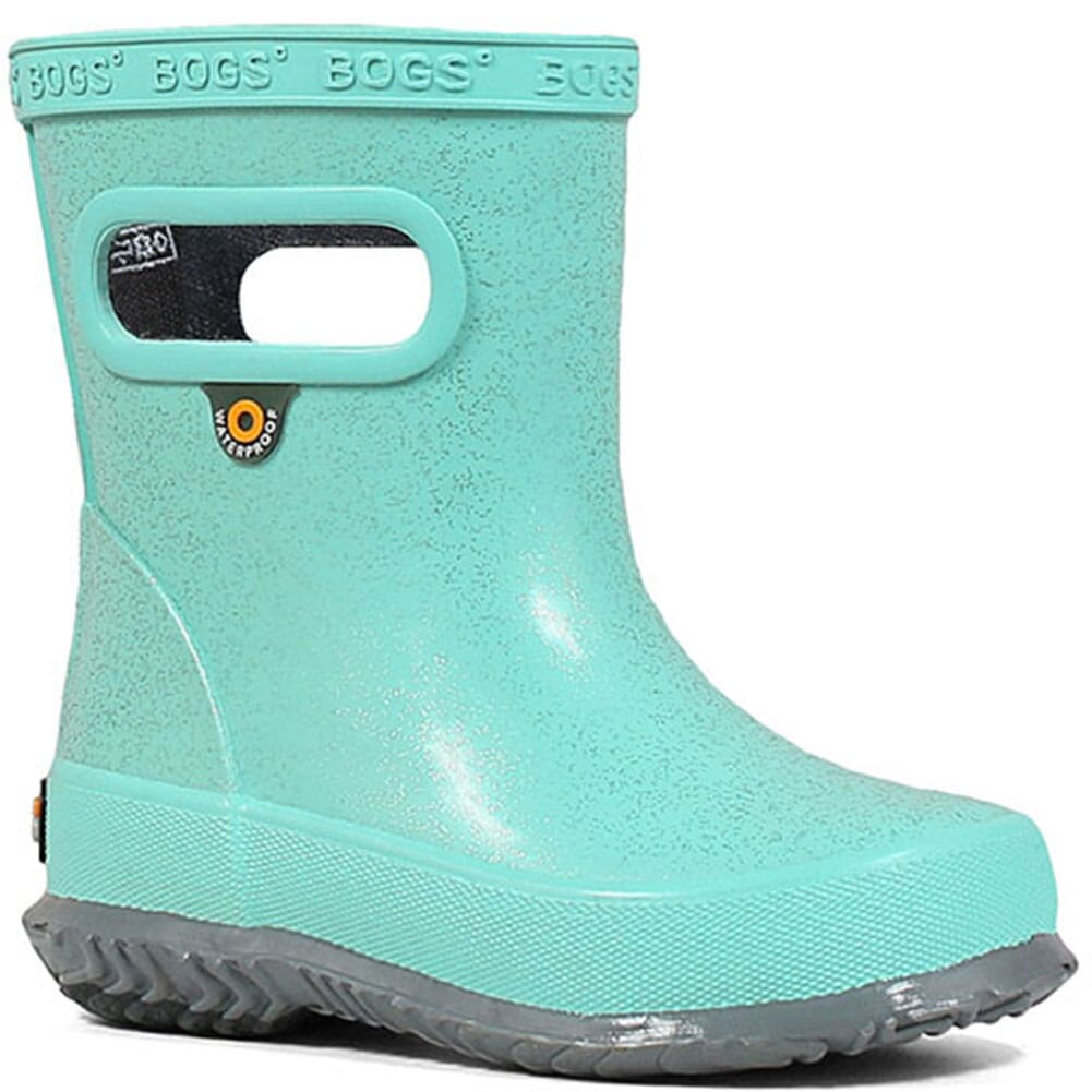 Image for Bogs Kid's Skipper Glitter Rain Boots - Turquoise from bootbay