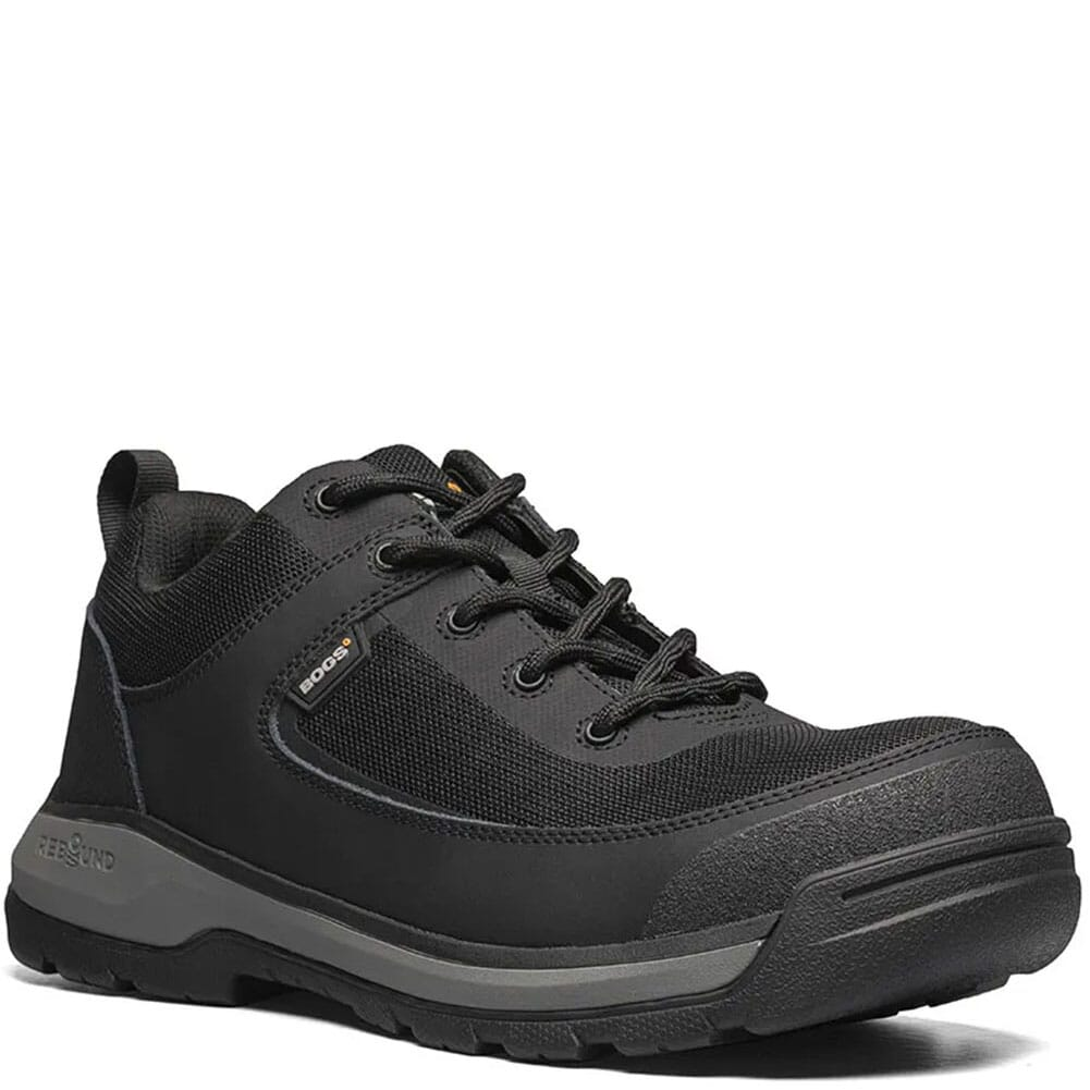 Image for Bogs Men's Shale Low Safety Shoes - Black from bootbay