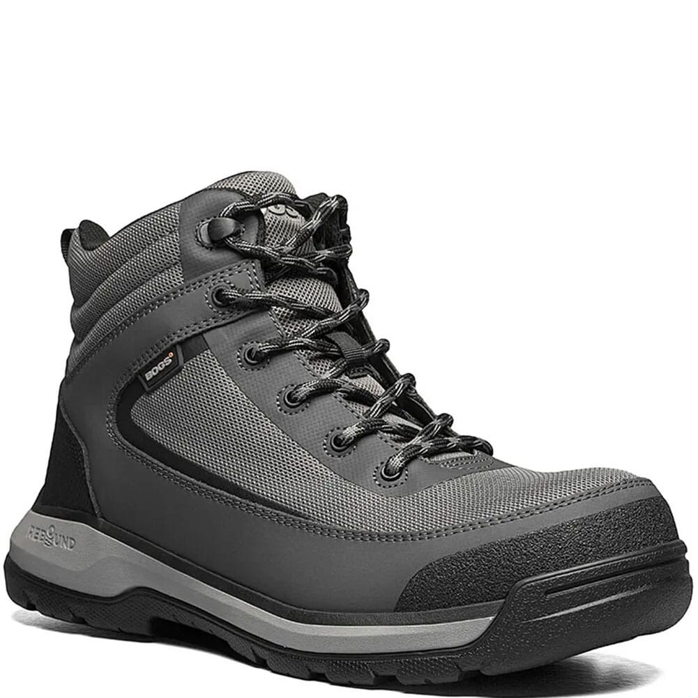 Image for Bogs Men's Shale Mid Safety Shoes - Grey from bootbay