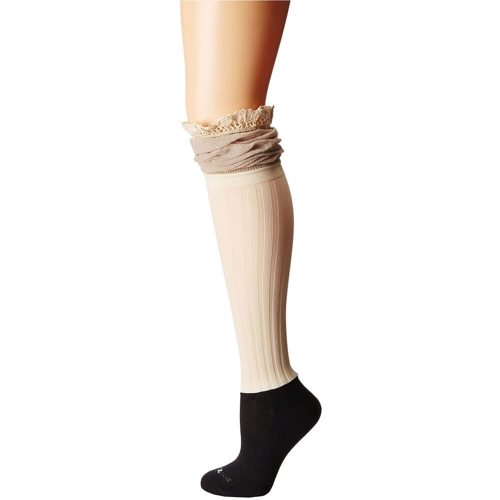 Image for Darby Betsy Burlap Knee-Hi Boottights - Cream from bootbay
