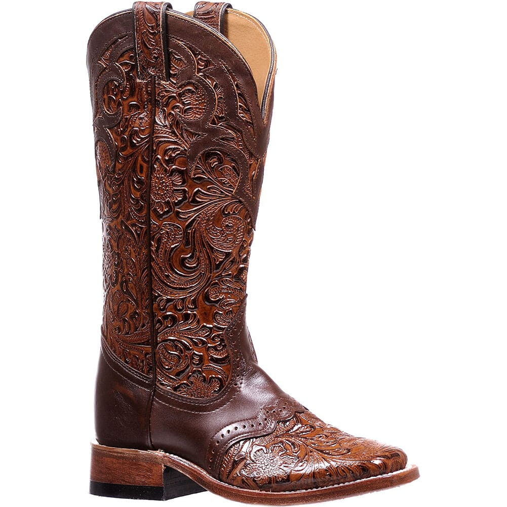 Image for Boulet Women's Wide Square Toe Western Boots - Dankan Brown from elliottsboots