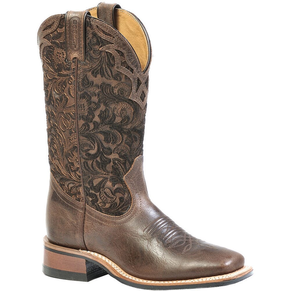Image for Boulet Women's Wide Square Toe Western Boots - Tobacco from elliottsboots