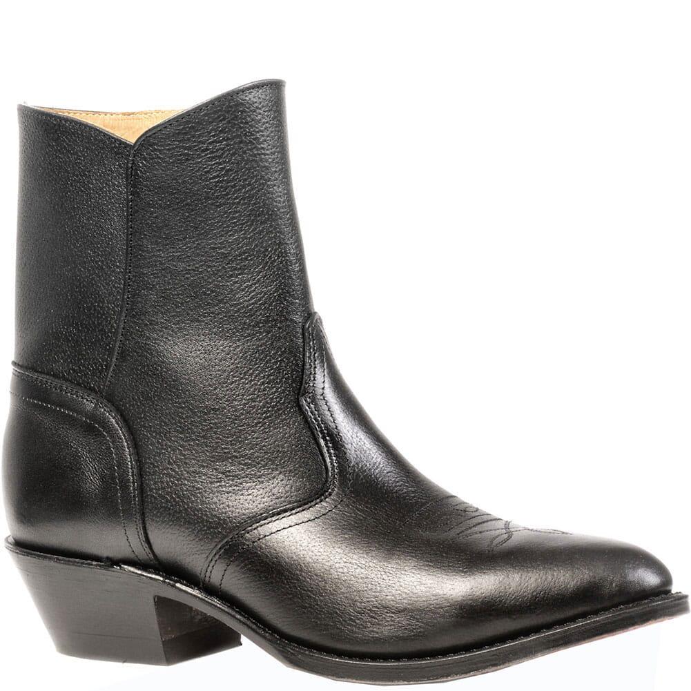 Image for Boulet Men's Zip Western Dress Boots - Black Deer Tan from bootbay