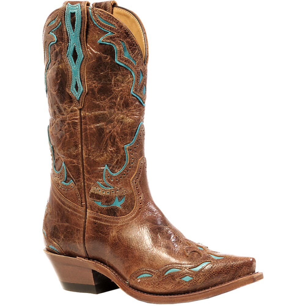 Image for Boulet Women's Snip Toe Western Boots - West Turqueza from elliottsboots