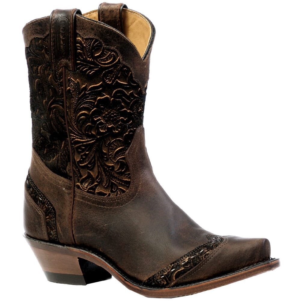 Image for Boulet Women's Calf Split Western Boots - Brown from elliottsboots
