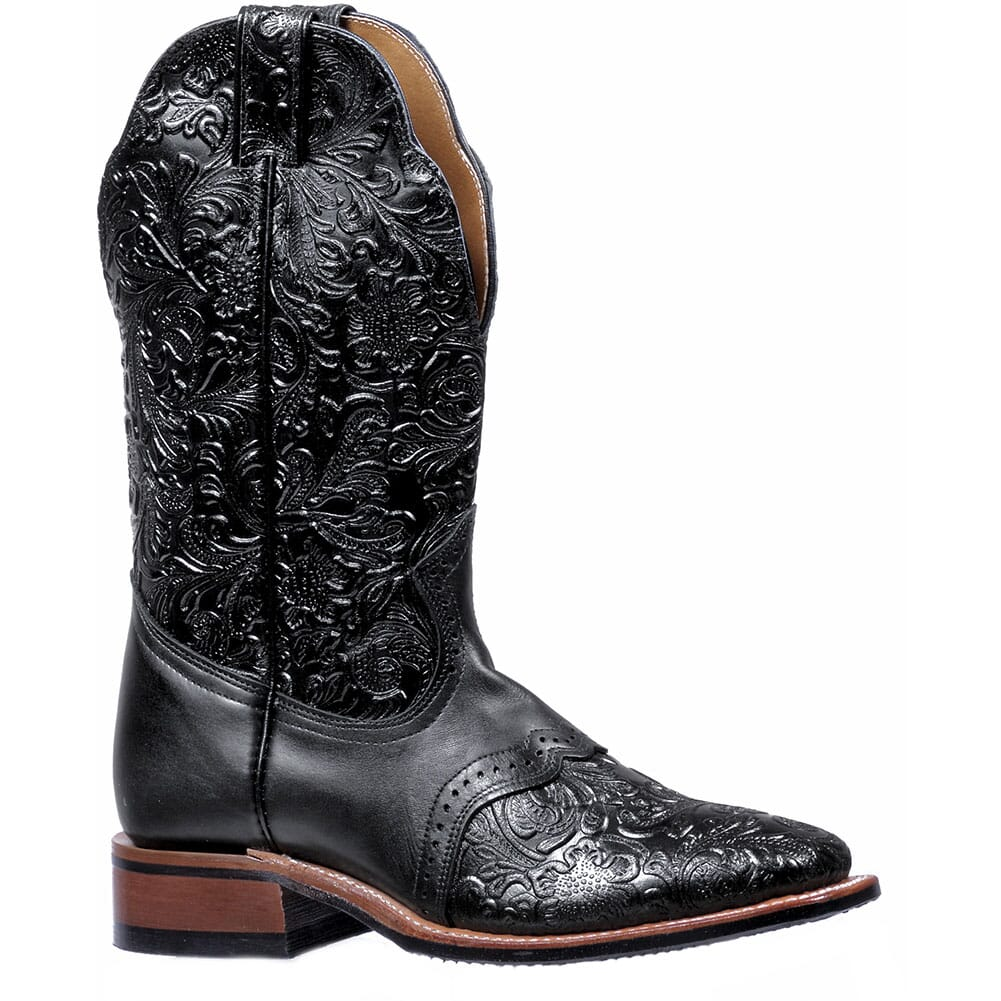 Image for Boulet Women's Stockman Heel Western Boots - Black from elliottsboots