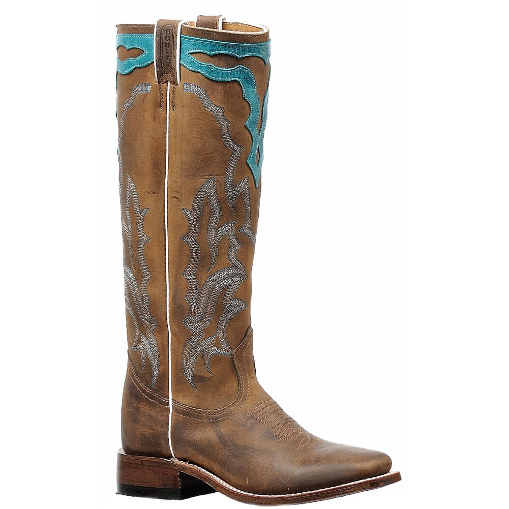 Image for Boulet Women's Vintage Western Boots - West Turquesa from elliottsboots